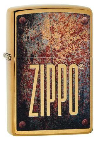 zippo rusty plate